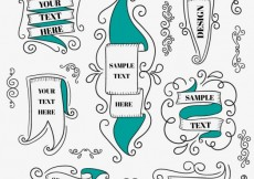 Free vector Vintage ribbons collection #16234