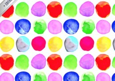 Free vector Watercolor dots pattern #16803