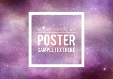 Free vector Watercolor space poster #16829