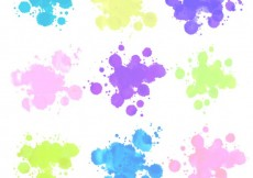 Free vector Watercolor splashes #17742