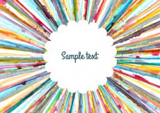 Free vector Watercolor stripes frame #13458