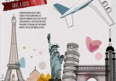 Free vector Watercolor travel background #14421