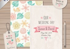 Free vector Wedding cards and labels #17490