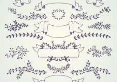 Free vector Wedding decoration collection #15018