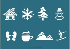Free vector Winter Silhouette Vector Icons #17170
