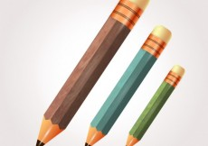 Free vector Wooden pencils collection #19404