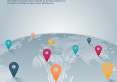 Free vector World map with pointer infographic #12859