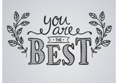 Free vector You are the best in hand written style #15492