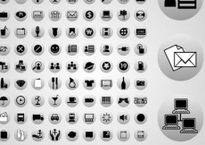 Free vector 100 vector web icons #23364
