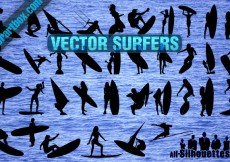 Free vector 36 Vector Surfers Clipart #23645