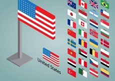 Free vector 3d flags collection #20476