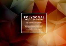 Free vector Abstract background in low poly style #25767