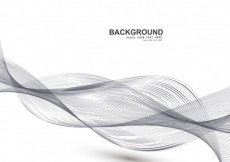 Free vector Abstract background with motion curves #25071