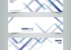 Free vector Abstract banners in modern style #21457