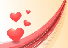 Free vector Abstract Valentine background with hearts #22096