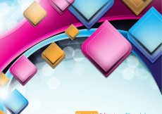 Free vector abstract vector background object 03 #23693