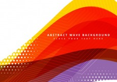 Free vector Abstract wavy background with dots and stripes #25537