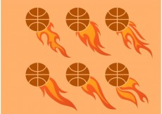 Free vector Another Flaming Basketball Vector Set #22909