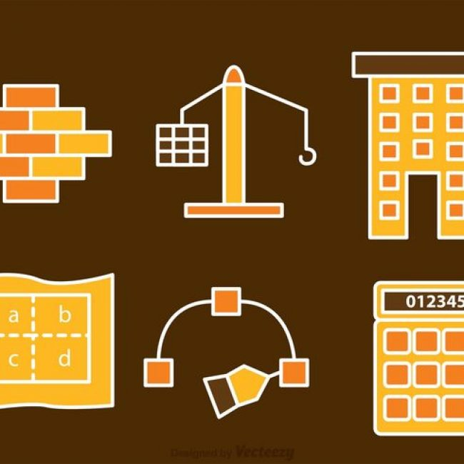 Free vector Architecture And Construction Icons Vectors #22259