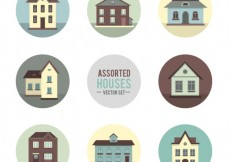 Free vector Assorted houses #27161