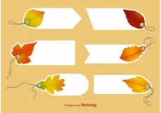 Free vector Autumn Blank Price Tag Vectors #23857