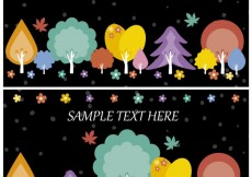Free vector Autumn trees banners #26987