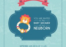 Free vector Baby shower card for boy #21272