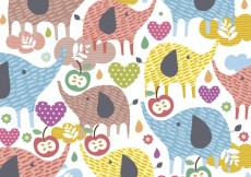 Free vector Background with cute elephants #26323