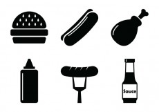 Free vector BBQ Vector Icons #26914