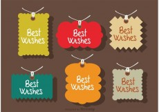Free vector Best Wishes Labels Vector #27630