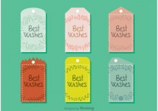 Free vector Best Wishes Tag Vectors #27684