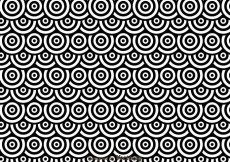 Free vector Black And White Dots Circles Pattren #26123