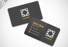 Free vector black striped business card #26501