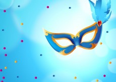 Free vector Blue carnival mask #20828