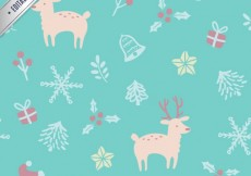 Free vector Blue Christmas Pattern #26091