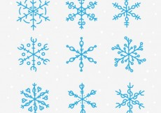 Free vector Blue snowflakes collection #27784