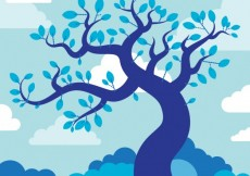 Free vector Blue tree illustration #27375