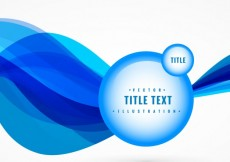 Free vector blue wave abstract background with label vector #24566
