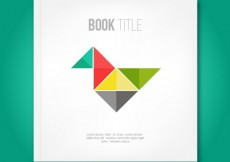 Free vector Book cover with origami bird #20702