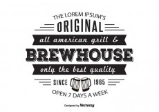 Free vector Brewhouse Griil Logo Template #28089
