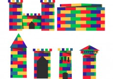 Free vector Buildable Lego Fort Vectors #22548