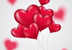 Free vector Bunch of heart balloons #21244