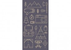 Free vector Camping Pattern Vector #22307