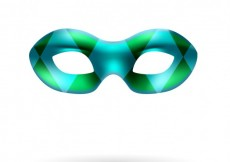 Free vector Carnival mask in harlequin style #20824