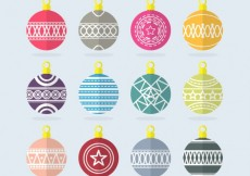 Free vector Christmas Baubles Collection #25859