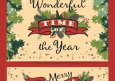 Free vector Christmas card and banner #24156