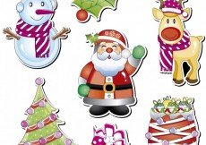 Free vector Christmas characters collection #26685