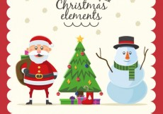 Free vector Christmas Elements Collection #25787