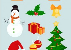 Free vector Christmas elements pack #26876