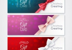 Free vector Christmas gift cards #24872